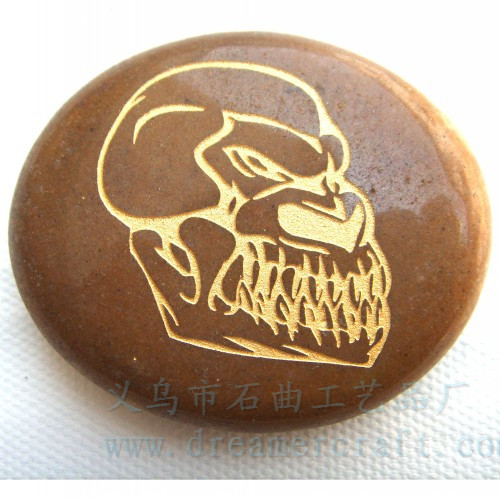 easter engraved stones