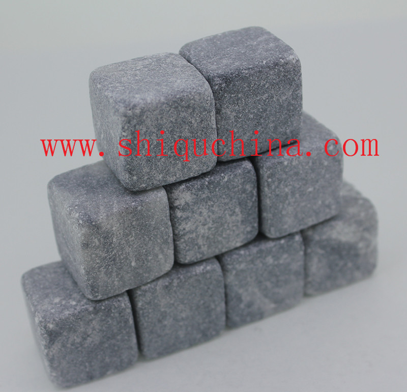 grey cube whiskey stone