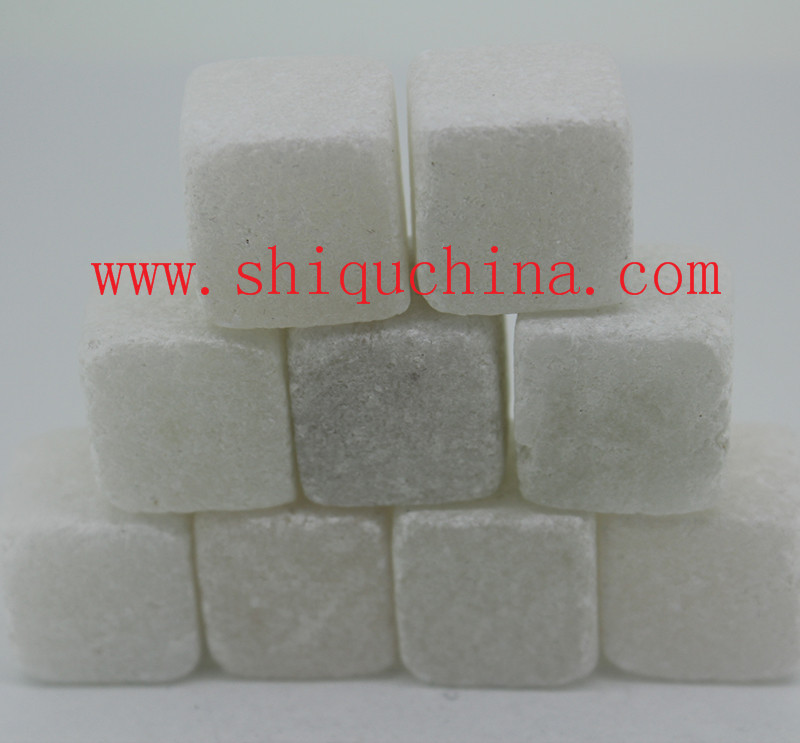white soap stone whiskey stone 9pcsset
