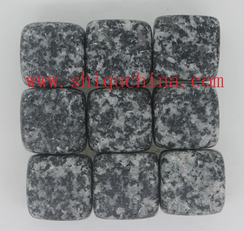 cube granite whiskey stone set